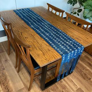 ロンハーマン(Ron Herman)の新品未使用 Malaika マライカ購入 アフリカ生地 藍染テーブルランナー(テーブル用品)