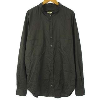 ポールハーデン(Paul Harnden)のポールハーデン ノーカラー シャツ バンドカラー コットン 長袖 グレー XL(シャツ)