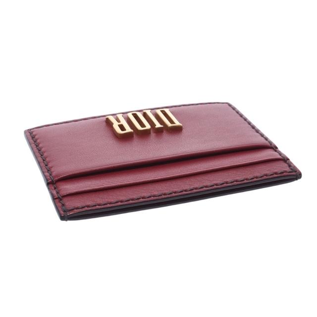 Christian Dior(クリスチャンディオール)のクリスチャンディオール  カードホルダー カードケース ボルドー レディースのファッション小物(名刺入れ/定期入れ)の商品写真