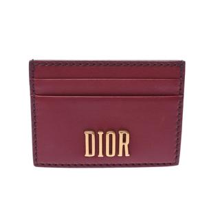 Christian Dior - クリスチャンディオール  カードホルダー カードケース ボルドー