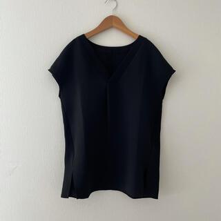 デミルクスビームス(Demi-Luxe BEAMS)のデミルクス ビームス ブラウス 黒 ブラック(シャツ/ブラウス(半袖/袖なし))