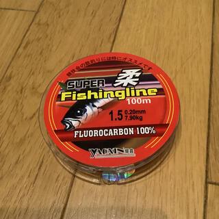 フロロライン1.5号 フロロカーボン100% 1.5号 100m ハリス 道糸