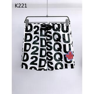 ディースクエアード(DSQUARED2)のDSQUARED2  ショートパンツ水着 K221 ホワイトL(水着)