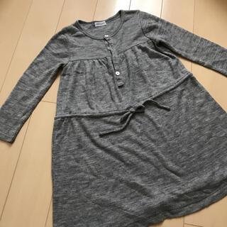 パタシュー(PATACHOU)のパタシュー☆グレーの柔らかニットワンピース☆美品☆サイズ110(ワンピース)