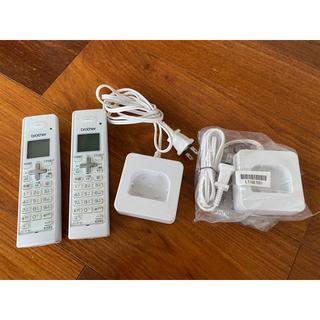 ブラザー(brother)のブラザー brother 電話 子機2個セット充電器付き 中古品 美品 送料込み(その他)