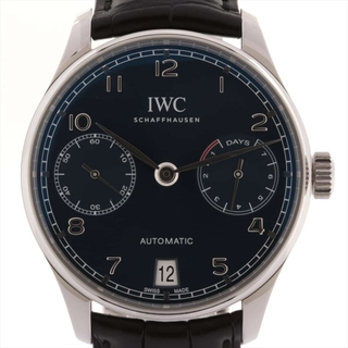 インターナショナルウォッチカンパニー(IWC)のアイダブリューシー ポルトギーゼ 7DAYS SS×革   メンズ 腕時計(腕時計(アナログ))