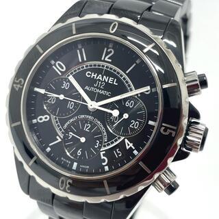 シャネル(CHANEL)のシャネル H0940 デイト J12 クロノグラフ メンズ腕時計 ブラック(腕時計(アナログ))