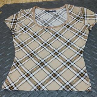 サリア(salire)のチェックカットソー(カットソー(半袖/袖なし))