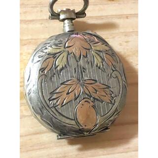 銀のアンティーク懐中時計パーツ(W38)(彫刻/オブジェ)