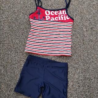 オーシャンパシフィック(OCEAN PACIFIC)の水着 新品 タグ付 セパレート op  セット ロンパース キャミソール ビキニ(水着)