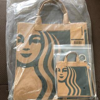 スターバックスコーヒー(Starbucks Coffee)の台湾限定 スターバックス サイレンロゴ バッグ&財布 ②点セット♪(トートバッグ)