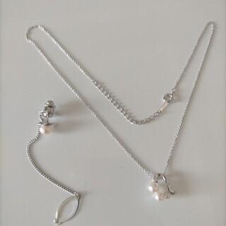 ミキモト(MIKIMOTO)の☆極美品☆ミキモトあこや真珠ネクタイピン&田崎あこや真珠ネックレストップのセット(ネックレス)