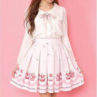 アンクルージュ(Ank Rouge)のAnkRouge 🎀 カップケーキ柄スカート(ミニスカート)