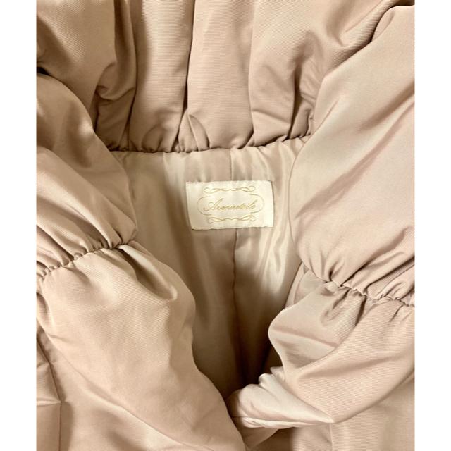 Aveniretoile(アベニールエトワール)の限定値下げアベニールエトワール中綿コート  ベージュ 36 ダウンコート レディースのジャケット/アウター(ダウンコート)の商品写真