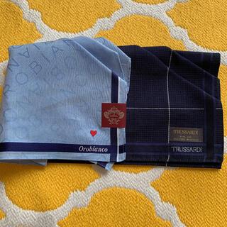 オロビアンコ(Orobianco)のオロビアンコ トラサンディ メンズハンカチ 2枚セット(ハンカチ/ポケットチーフ)