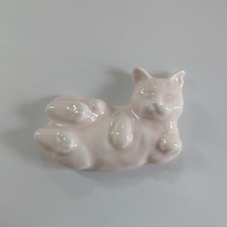 アフタヌーンティー(AfternoonTea)の気まぐれsale Cat's Nap Time      サバ美猫箸置き ピンク(ノベルティグッズ)