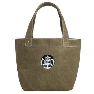 スターバックスコーヒー(Starbucks Coffee)のスターバックス :トートバッグ サイレン カーキ スタバ 台湾 限定商品 帆布(ハンドバッグ)