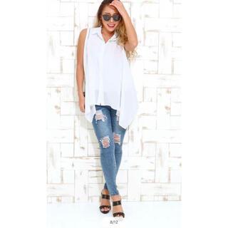 アナップラティーナ(ANAP Latina)のANAPラティーナノースリーブシャツ 白(カットソー(半袖/袖なし))