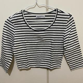 ウィゴー(WEGO)のクロップドボーダーT Fサイズ(Tシャツ(長袖/七分))