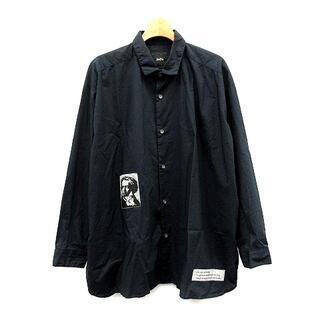 Jieda - ジエダ Jieda シャツ ロング オーバーサイズ プリント 1 S 紺