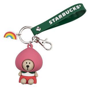 Starbucks Coffee - スターバックス:キーホルダー ベアリスタ 台湾 スタバ クマ 桃