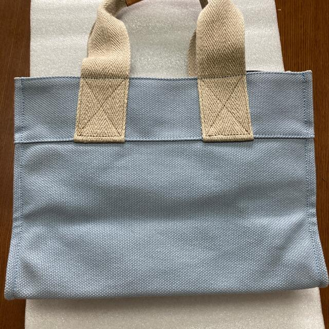 A.D.M.J.(エーディーエムジェイ)のA.D.M.J トートバッグ ハンドバッグ 麻 水色 レディースのバッグ(トートバッグ)の商品写真