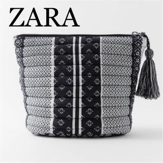 ザラ(ZARA)のZARA ザラ 新品 プリントキルティング トラベルポーチ(ポーチ)