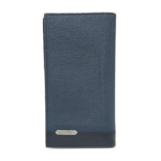 ブルガリ(BVLGARI)のブルガリ  二つ折り財布  セルペンティ スカリエ マン   ネイビー(折り財布)