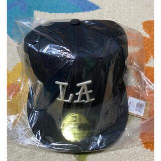 STUSSY - STUSSY  LA NEW ERA CAP 7-3/4 XXL 黒 未使用
