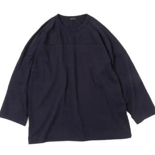 COMOLI - 20AW comoli フットボールTシャツ ネイビー コモリ