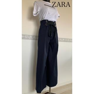 ザラ(ZARA)の【新品タグ付き】ZARA☆春夏ウエストシャーリングワイドバンツ(カジュアルパンツ)