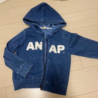 アナップキッズ(ANAP Kids)のANAP キッズ パーカー 120 女の子 男の子 デニム(ジャケット/上着)