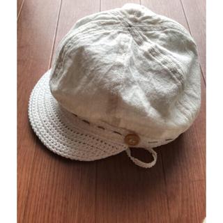 ムジルシリョウヒン(MUJI (無印良品))の美品 子供 ベビー帽子 良品計画 アイボリーホワイト(帽子)