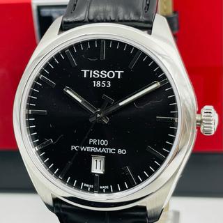 ティソ(TISSOT)の本物・伝統★TISSOTティソPR 100パワーマティック80 ブラック 腕時計(腕時計(アナログ))