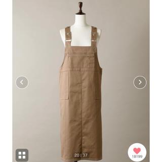 ワンアフターアナザーナイスクラップ(one after another NICE CLAUP)のぴったりサイズジャンパースカート(ひざ丈ワンピース)