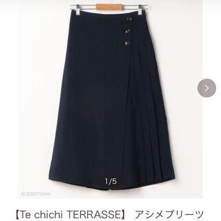 テチチ(Techichi)のテチチテラス アシメプリーツガウチョ ネイビー(その他)