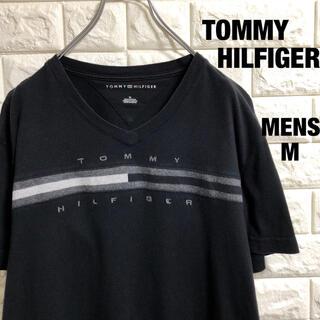 トミーヒルフィガー(TOMMY HILFIGER)のトミーヒルフィガー VネックTシャツ 刺繍ロゴ メンズLサイズ(Tシャツ/カットソー(半袖/袖なし))