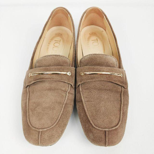 TOD'S(トッズ)のTOD'S トッズ ドライビングシューズ 22cm ベージュ スエードレザー金具 レディースの靴/シューズ(その他)の商品写真