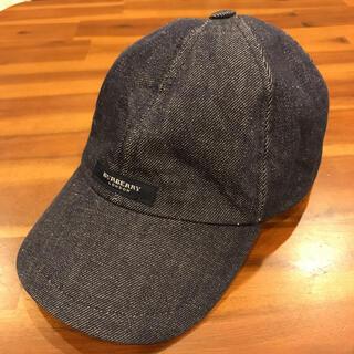 バーバリー(BURBERRY)のburberry バーバリー デニムキャップ 帽子 ベースボールキャップ(キャップ)