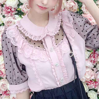 Princess Melody♡ドットチュール重ねヨークブラウス♡プリメロ