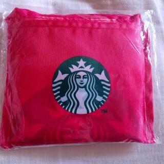 Starbucks Coffee - 未使用 スターバックス エコバッグ 台湾 海外 水玉 ドット 赤 ピンク