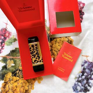 ヴィヴィアンウエストウッド(Vivienne Westwood)のヴィヴィアン レオパード柄 ライター ゴールドです(タバコグッズ)
