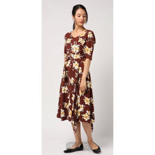 レディアゼル(REDYAZEL)の花柄 ワンピース レディアゼル REDYAZEL ブラウン 茶色 福袋 ワンピ (ロングワンピース/マキシワンピース)