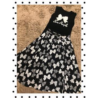 ジェーンマープル(JaneMarple)のjane marpleリボン柄ロングスカート2点(ロングスカート)