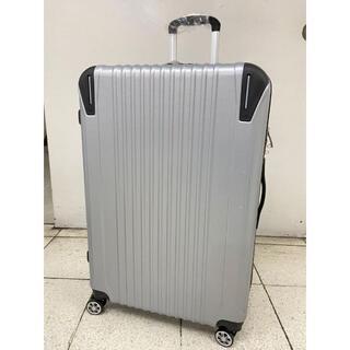大型軽量スーツケース8輪キャスター TSAロック付き Lサイズ シルバー(旅行用品)