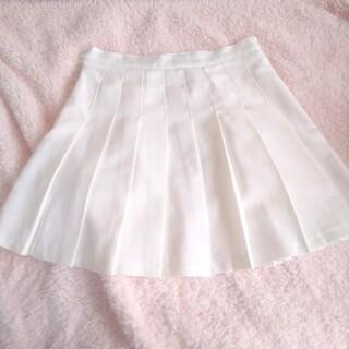 ゴゴシング(GOGOSING)の韓国 プリーツ テニス スカート 白(ミニスカート)