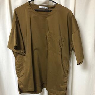 グローバルワーク(GLOBAL WORK)のTシャツ ポリエステル ブラウン(Tシャツ(半袖/袖なし))