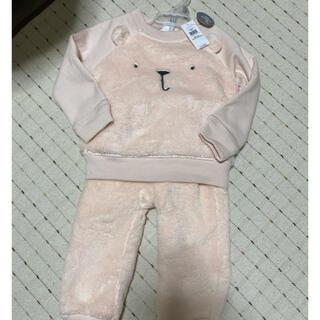 babyGAP - 新品未使用GAPベビー上下セットサイズ90 熊フリーススゥウット薄いピンク熊顔