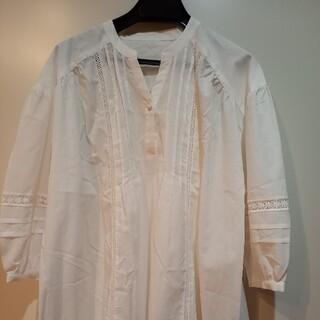 ロペ(ROPE)のROPE 刺繍入り 綿ブラウス 新品未使用(シャツ/ブラウス(長袖/七分))