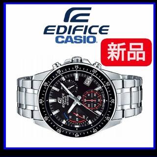 エディフィス(EDIFICE)のカシオ逆輸入EDIFICEエディフィス欧米モデル 精悍ブラック 100m防水 ク(腕時計(アナログ))